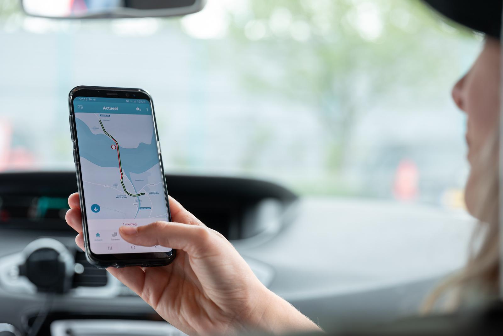 Actuele verkeersinformatie met de app